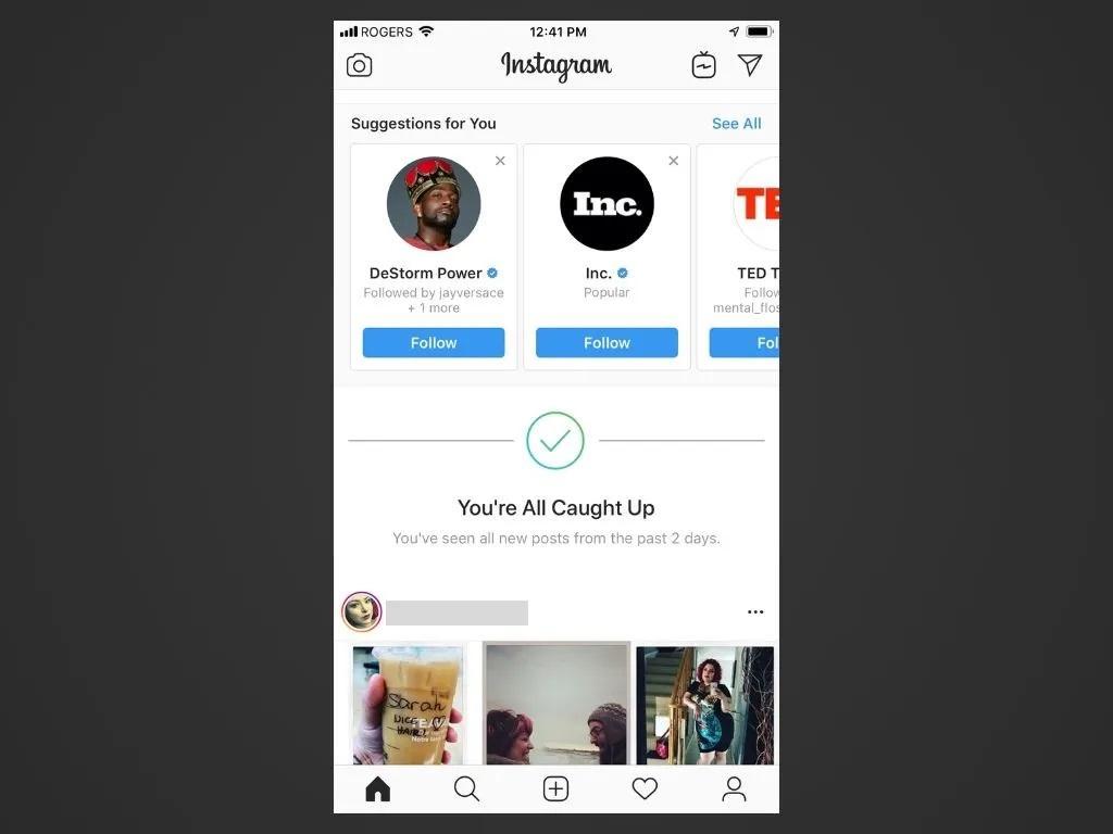 Instagram'daki önerilere dikkat edin
